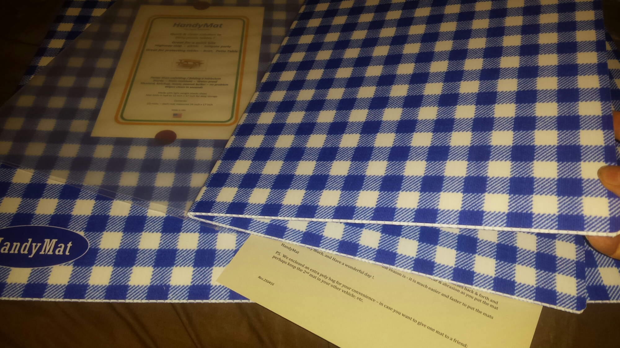 Picnic Table Mat Wind Resistant Waterproof Foldable
